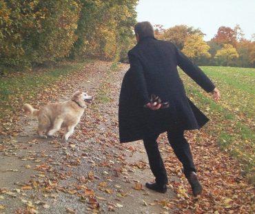 Senta und Ralph Anstoetz beim Herbstspaziergang