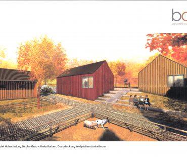 Entwurf Dorf Sentana Farbgebung