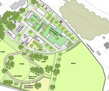 Lageplan von unserer Landschaftsarchitektin Frau Ermshausen